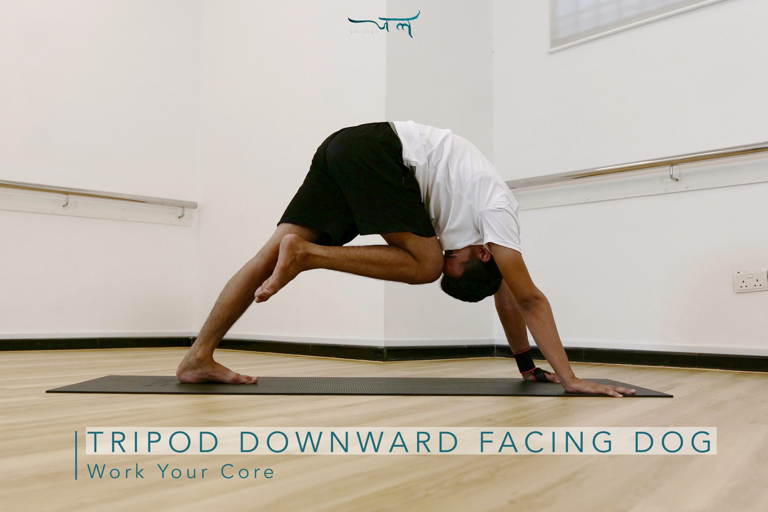 Tripod Downward Dog Core Workout at Home To Flatten Your Belly