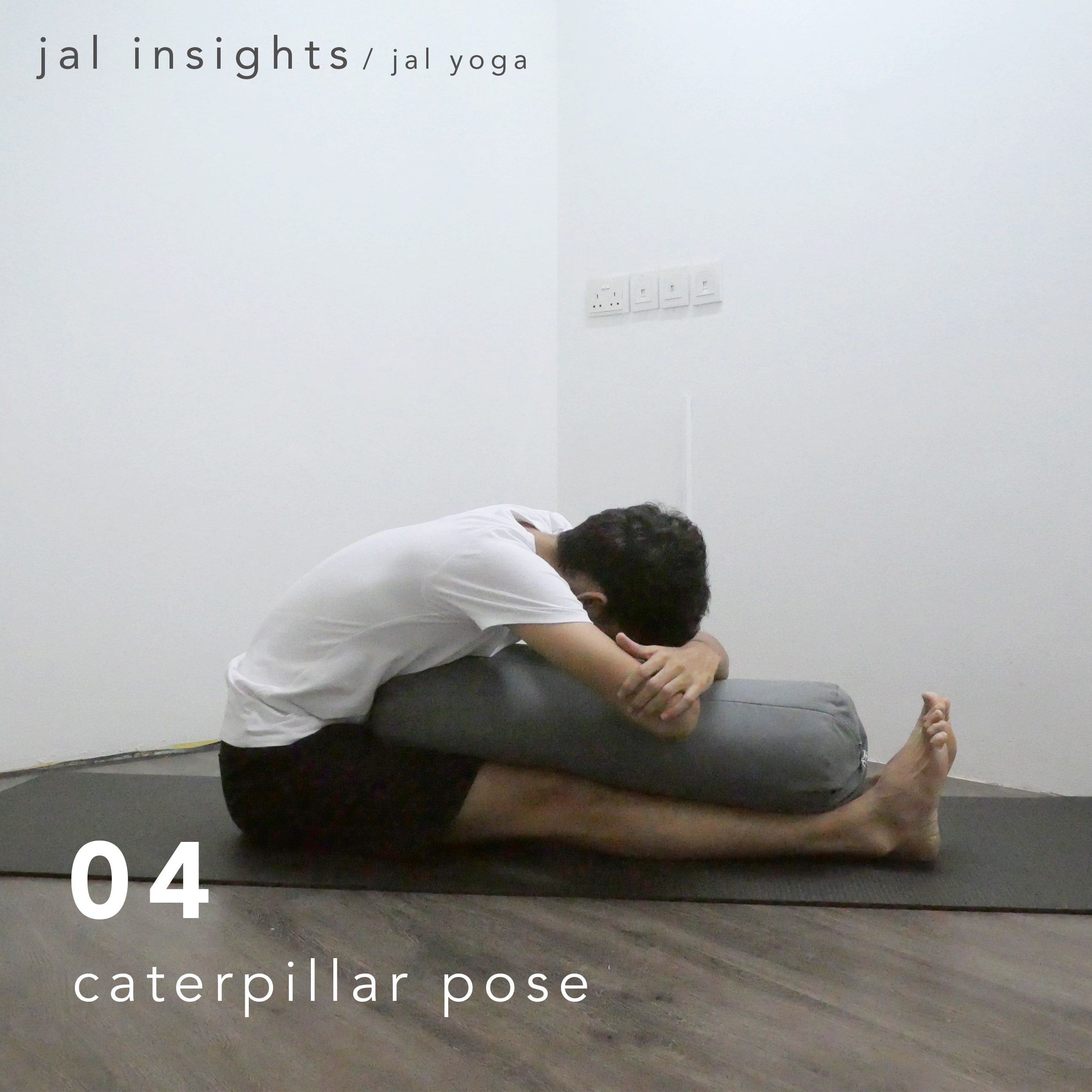 Yin Yoga for Anxiety and Stress | Jal Yoga | Caterpillar Pose