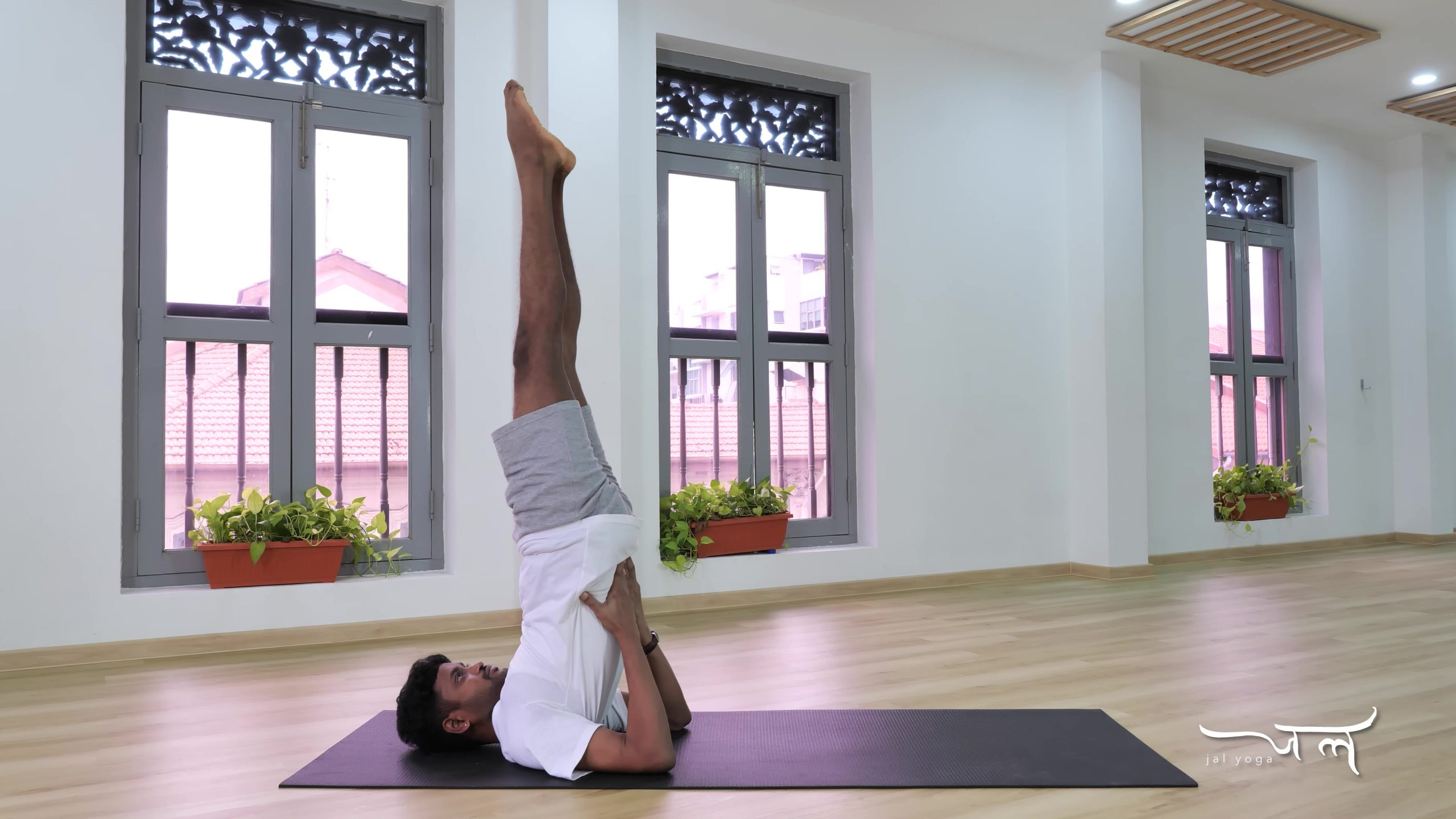 Shoulder Stand | Yoga Therapy for Better Sleep | Manage Sleep Disorders