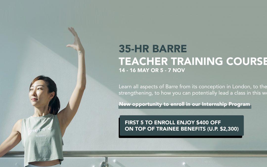 35-Hour Barre Teacher Training Course